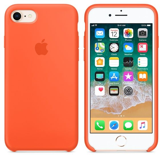 Apple iPhone 8 7 Silicone Case - Spicy Orange - MR682ZM A  4aa3c0c7965