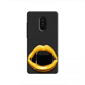 Cover It Up Gold Lips Hard Case For Xiaomi Redmi Note 4 Black & Gold