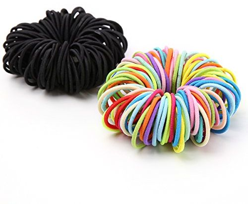 Munax Girls Hair Bands Ties Elastics toddler Ponytail Holders Tiny Soft  Rubber Bands for Baby Kids Small Size No Aches Durable Hair Accessories 2bf300adb08