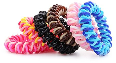 Spiral hair band No Crease Elastic Ponytail Holders Phone Cord ... 7745096ed7a
