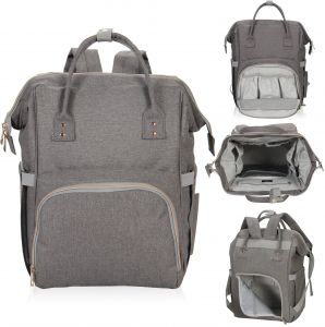 b3003c007 Hynes Eagle Multipurpose Diaper Backpack Baby Travel Bag for Dad or Mom One  Size Grey HE0834-3