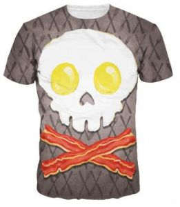Skull Men and Women Short Sleeve Cool Sports Multi Color Printing Round Neck  T-shirt Cotton Size M 2a4b9734e
