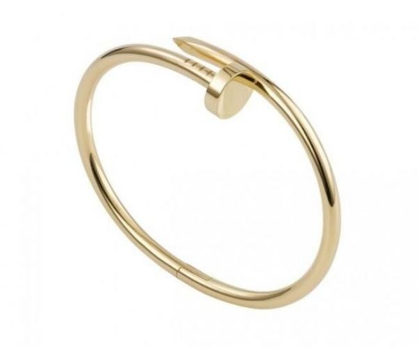02d2e74db Designer Inspired Pleated Golden Titanium Steel Nail Cuff Bangle Bracelet  Nail Love Bangle Bracelet for Women Men | Souq - Egypt