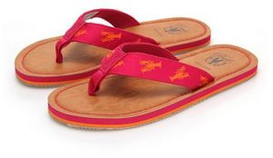cddab1b091ab Cole Haan Girls Pinch Trap Flip Flop Electra Brown Coral