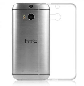HTC One M8 TPU Silicone Clear Case Back Cover By Muzz