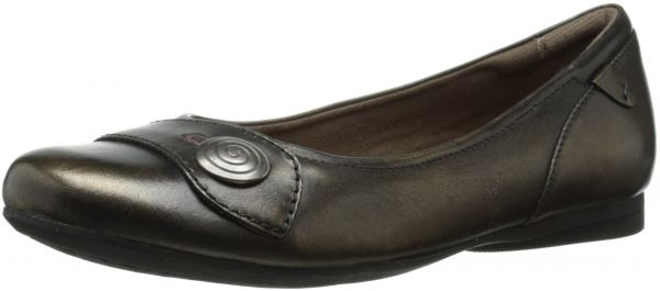 Rockport Cobb Hill Emma Flat(Women's) -Black Full Grain Leather With Paypal For Sale O1Ty6Wk