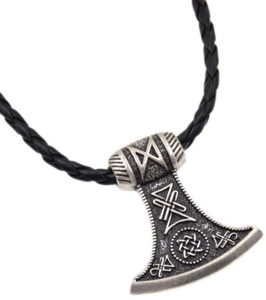 men axe double pendant mens for edged detail