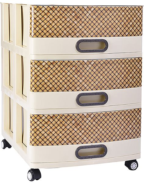 Souq | Medstar Pure large Commode, 3 Drawers - Beige | Egypt