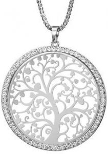 shop necklaces at emporio armani swarovski anne klein uae souq Grading Silver Dollars tree of life necklace women jewelry silver color chain czech crystal pendant necklaces