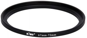 Kiwifotos SU 67-72MM 67mm-72mm Step-up Adapter Ring for Lenses 67mm Lens to 72mm Filter, Hood, Lens Converter and Other Accessories