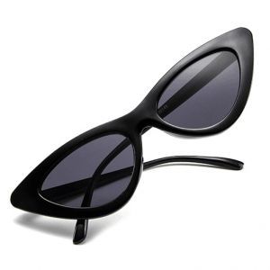 239704488e Retro Vintage Narrow Cat Eye Sunglasses for Women Clout Goggles Plastic  Frame