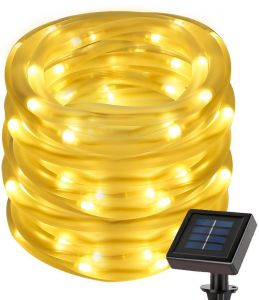 50 LEDs Warm White Solar Power String Lights, Waterproof Decorative Rope  Light for Outdoor Christmas Tree, Garden, Patio, Party, Wedding, Lawn,  Holiday, ... 2a8c1efd3d