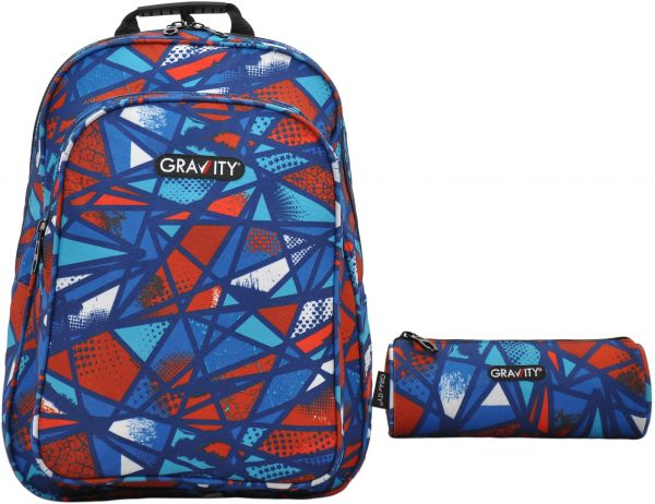 ea42ca1b96a5 GRAVITY BROKEN RED BACKPACK 17 inch