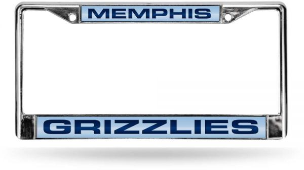Souq | NBA Grizzlies Laser Chrome Frame - Light Blue Background With ...