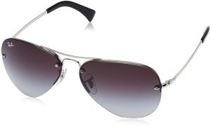 2ca0231535f Ray-Ban RB3449 - SILVER Frame GRAY GRADIENT Lenses 59mm Non-Polarized
