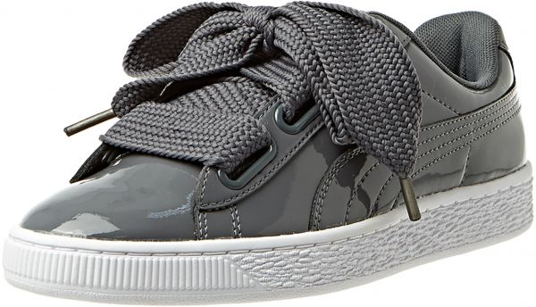 competitive price 32a5a cce68 Puma Basket Heart Patent Sneaker For Women (Grey - 40 EU)