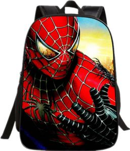 9e5c1d263e4b Spider-Man children backpack Cartoon super hero 16-inch Children s school  bags for boys
