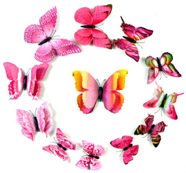 24 Pieces Butterfly Wall Sticker Pvc Wall Painting Bedroom Living