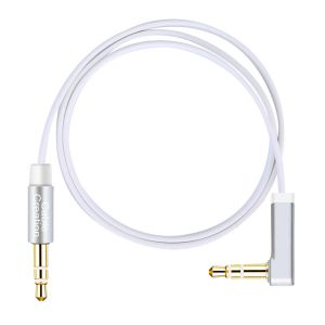 Aux Cable, CableCreation 6 Feet Flat 3.5mm Auxiliary Headphone Audio Stereo Cord 90 Degree Right Angle for Car ,Home Stereos, Apple iPod iPhone iPad, ...
