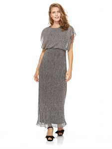 e43cd88d492 Mela London Shimmer Maxi Dress For Women - Silver