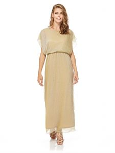 d81b23f46d0 Mela London Shimmer Maxi Dress For Women - Gold