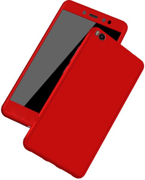 big sale 995df e8561 Oppo A83 case 360 Degree 2 pieces Silicon products front and Back - Red