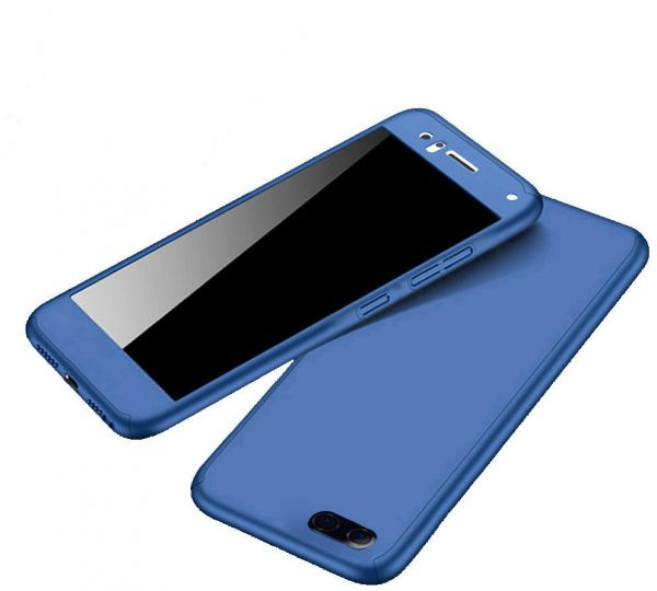 designer fashion 3b6fa 53d0a Oppo A83 case 360 Degree 2 pieces Silicon products front and Back - Blue