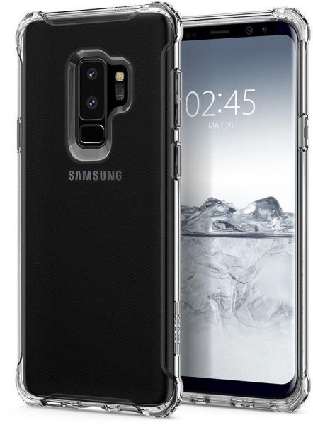 finest selection 61767 8e861 Case Against Drop and Gorilla Armor Shock Brand Compatible with Samsung  Galaxy S9 Plus Color Transparent