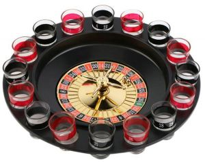 339471222623f 16Pcs Set Shot Glass Set Funny Roulette Drinking Game Glasses Beer Glass  For Wedding Party Bar Wine Glass Shaker