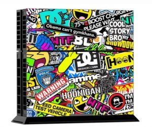PlayStation 4 Multicolor Vinyl Skin Sticker Protection Decal