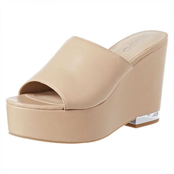 ceed6fa03864 Aldo Wedge Slippers For Women - Nude