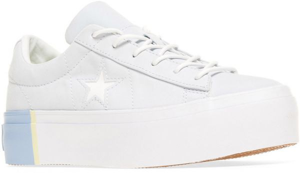 0a74217326caf5 Converse One Star Platform Ox Fashion Sneakers for Women - White ...