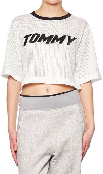 a79c1614c26250 Tommy Hilfiger Crop Top for Women - White