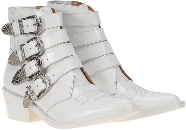 Toga Pulla Multi Strap Ankle Clog Boots