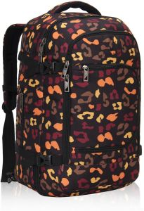 0f407219921 Hynes Eagle Travel Backpack 40L Flight Approved Carry on Backpack, Orange  Camo