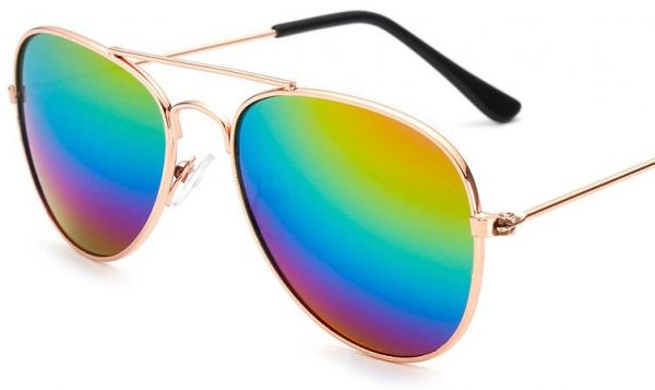 2c311b54682 Classic Kids Aviator Sunglasses Bulk Reflective Metal Frame Children  Eyeglass Gold frame colours frame