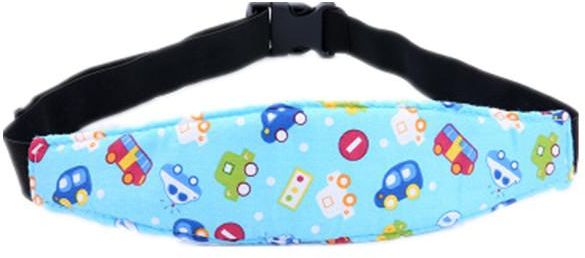 1 Pcs Car Seat Neck Relief Head Strap Toddler Infants And Baby Support Safety Stroller Adjustable Holder Sleep Belt Blue