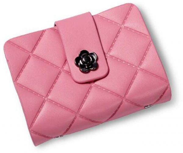 Fashion Business Card Holder Pink Credit Card Case Wallet Souq Uae