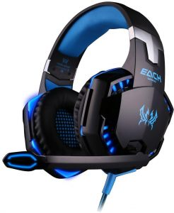 a5285b86457 KOTION EACH G2000 Gaming Headphone Headset Stereo Over-ear Headband Mic for  PC Blue