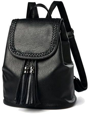 ec2c68bee26 Vichens Fashion Trend Women Soft Leather Shoulders Bag College Wind Leisure  Travel Backpack