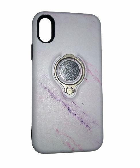 IPhone X Back Cover, Marble design with ring grip, anti-shock | Souq