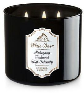 Bath And Body Works White Barn Mahogany Teakwood High Intensity Scented Candle 411g