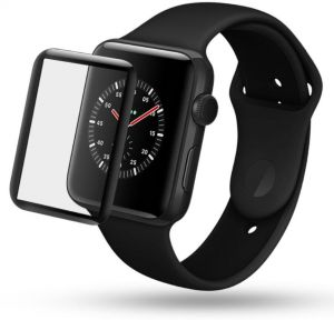 0a5991678 For Apple Watch Series 3/2/1 38mm - IMAK 3D Curved Full Cover Tempered  Glass Screen Protector Film - Black