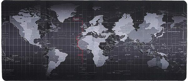 Margoun Non Slip Rubber Base Washable World Map Mouse Pad With High