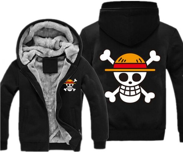 18ad51a28 One Piece Luffy Fleece Hoodie