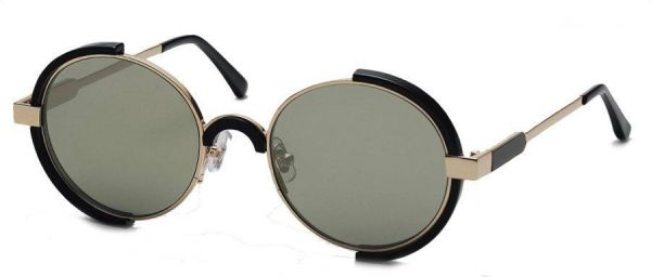 c0a3e935f1 Gentle Monster Round Unisex Sunglasses Infinity moooi Size 61 Gold Black