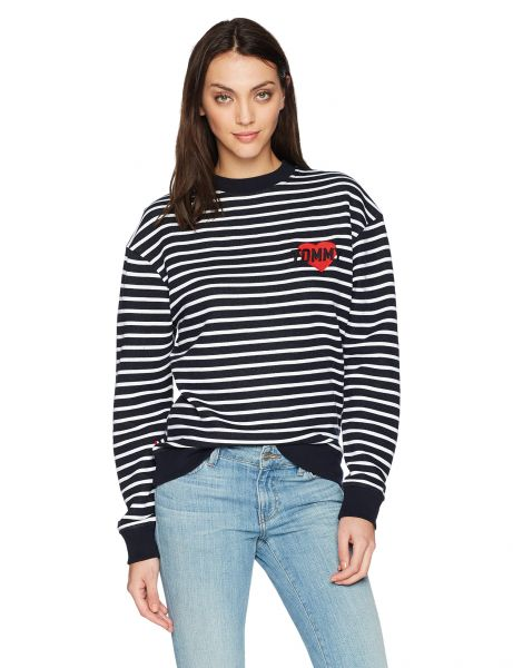 e8a9f09cf33cb4 Tommy Hilfiger Tommy Jeans by Women s Long Sleeve T-Shirt Heavyweight Knit  Tee