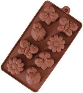 Non-stick Candy Jelly Molds, Chocolate Molds, Soap Molds, Silicone Baking Molds - Forest Theme Happy Bee, Butterfly