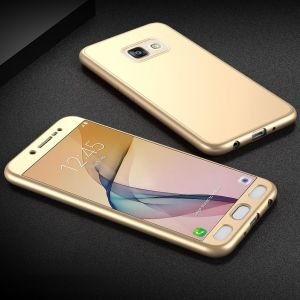 Samsung Galaxy J7 Prime Case Cover 2 in 1 Full Coverage Protection with Tempered Glass Screen Protector