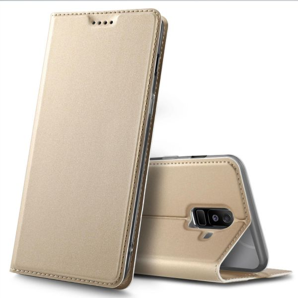 online store 5fcfe acd5a Samsung Galaxy A6 Plus 2018 case, Flip Premium case Cover for Samsung  Galaxy A6 Plus 2018, Gold